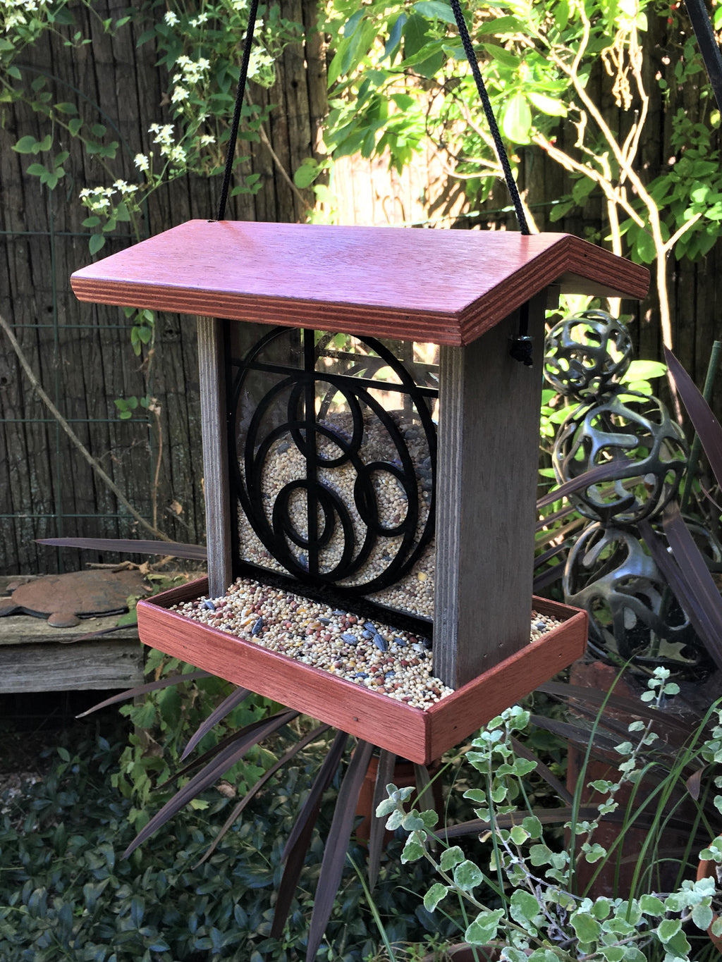 Orbits Bird Feeder - Terra Cotta.