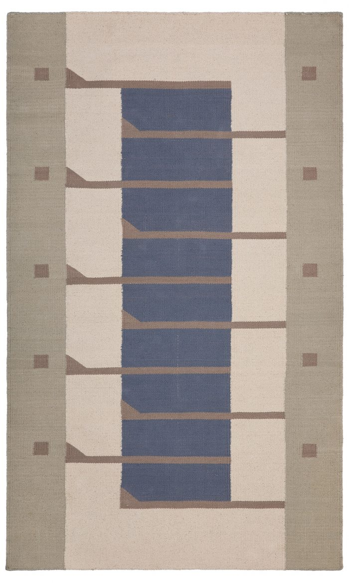 Frank Lloyd Wright Pettit Cotton Flat Weave 3'x5' Rug.