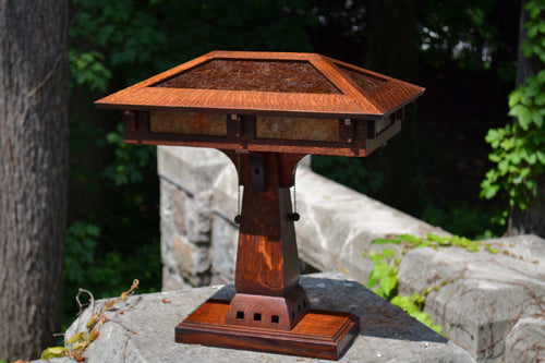 Prairie Craftsman Desk Lamp.