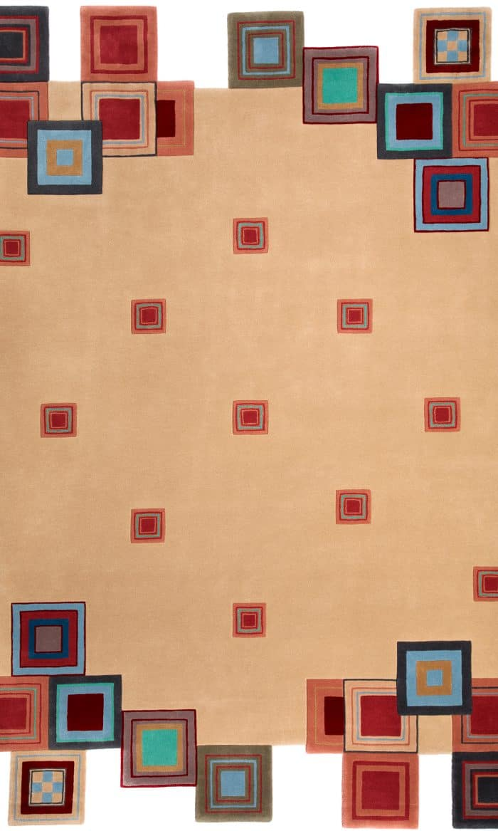 Frank Lloyd Wright Collection Wool Saguaro 6' x 9' Area Rug.