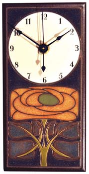 Art Nouveau  Ceramic Clock