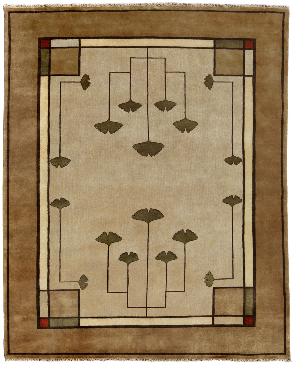 Ginkgo - Oatmeal,  Wool Area Rugs.