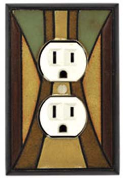 Craftsman Ceramic Tile Switchplate