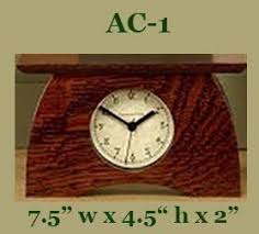 Arts & Crafts Shelf Clock, Craftsman Oak