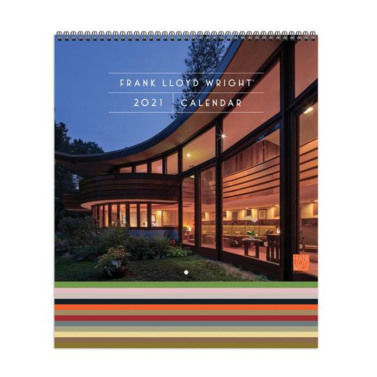 Frank Lloyd Wright 2021 Tiered Wall Calendar