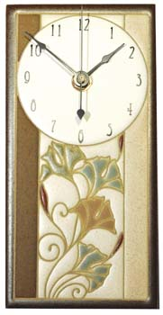 Ginkgo  Ceramic Clock