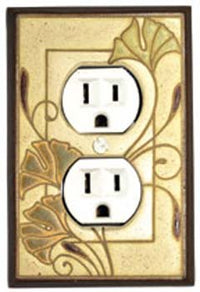 Ginkgo Ceramic Tile Switchplate
