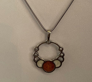 Eclipsing Circles Necklace, Copper