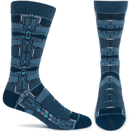 Robie House  Socks - Navy, Medium/Large