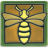 Green Bee Tile 4""