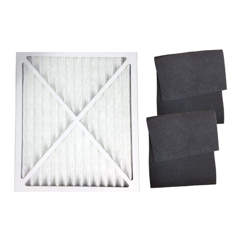 2pk Replacement 30901 Carbon Filters & 1 30931 Air Filter, Fits Hunter, Compatible with Part 30903, 30907, 30958 & 30959