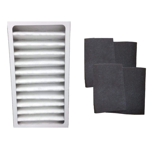 Replacement Air Purifier Filter & 2 Carbon Filters, Fits Hunter 30963 30710 30711 30730, Compatible with Part 30963 & 30901