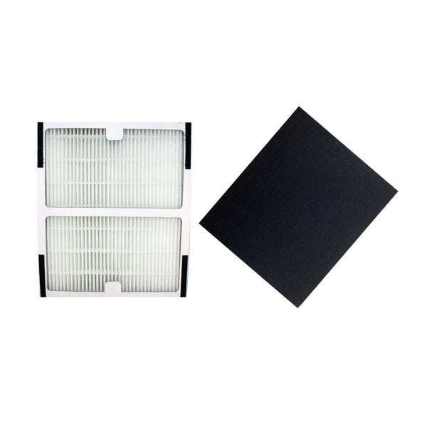 Crucial Air Replacements for Idylis HEPA Style B Air Purifier Filter & Carbon Filter, Compatible with Model # IAF-H-100B (2 Pack)