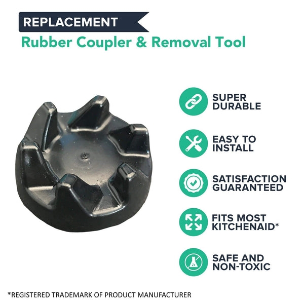 Replacement Blender Rubber Coupler & Removal Tool, Fits KitchenAid, Compatible with Part 9704230
