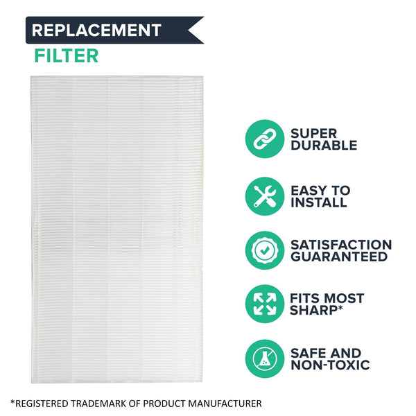 Replacement for Sharp True HEPA Style Air Purifier Filter, Compatible With KC-86OU