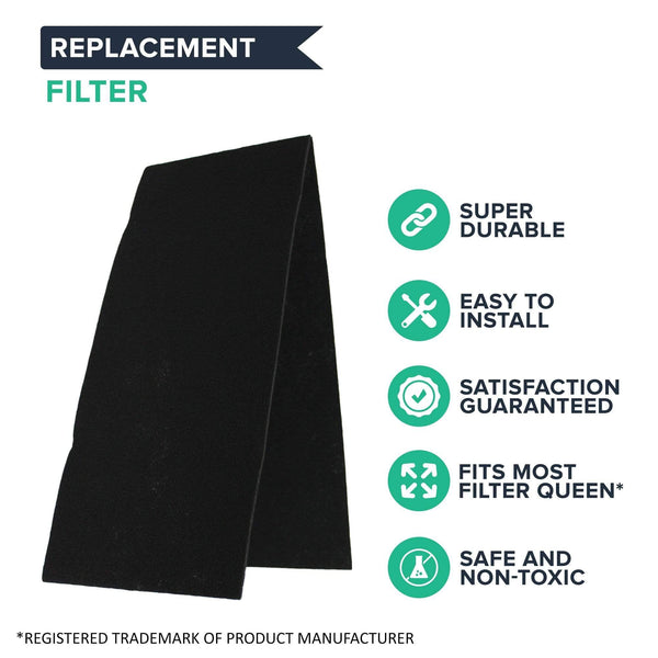 Crucial Air 2 Replacements for Filter Queen Pre Cut Carbon Air Filters Fit Defender Air Cleaners