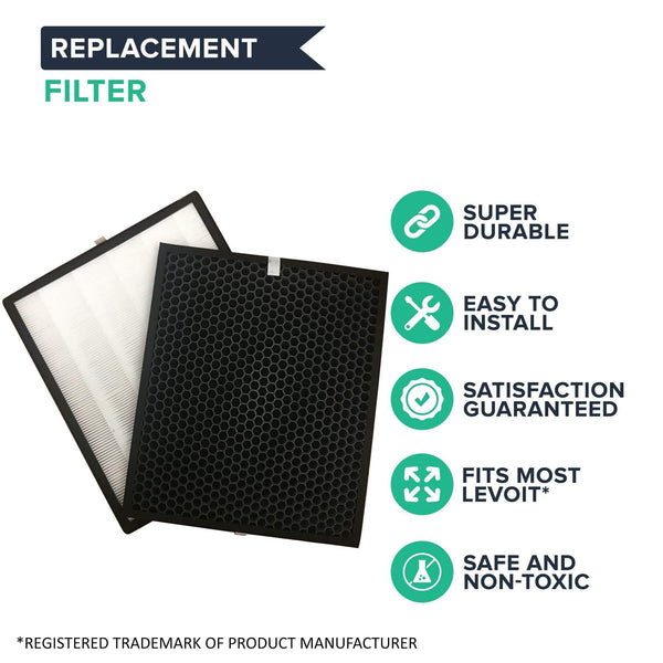 Levoit LV-PUR131 Filter Kit: Air Purifier Filter & Activated Carbon Filter Fits LV-PUR131-RF