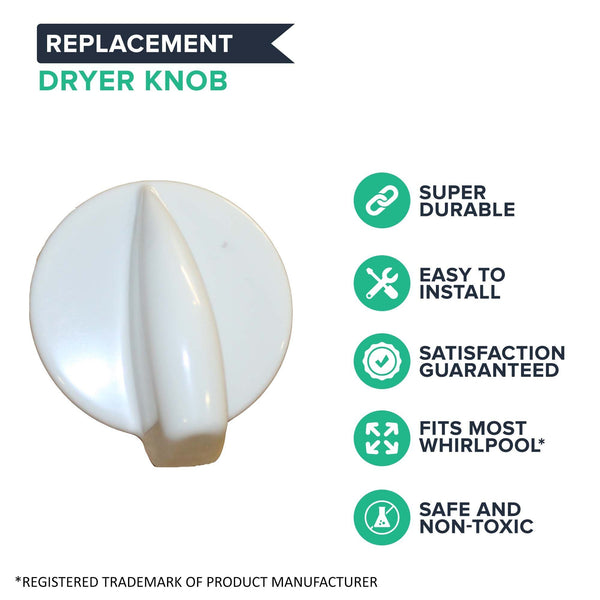 Replacement Dryer Knob, Fits Whirlpool, Compatible with Part 8181859