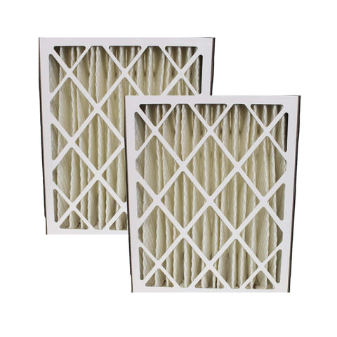 2pk Replacement Merv-8 20'' x 25'' x 5'' Pleated HVAC Air Filters, Fits Amana MU2025