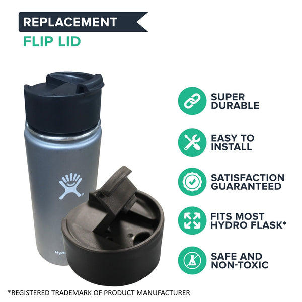 Replacement Wide Mouth Flip Lid, Fits Hydro Flask