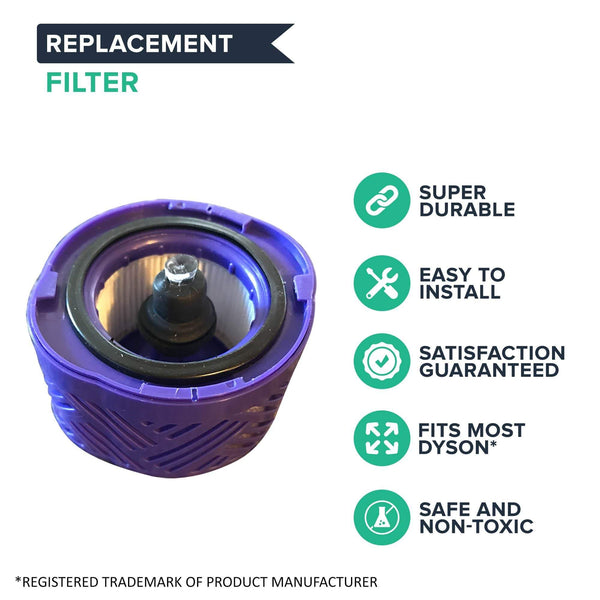 Post Motor HEPA Style Filter For Dyson V6 Absolute Cordless Stick Vacuum Models HH08, SV07, SV09, Replace Filter Part # 966741-01