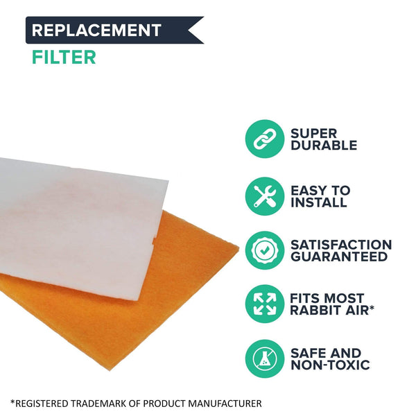 Replacement Filter Kit, Fits Rabbit Air MinusA2 Air Purifier