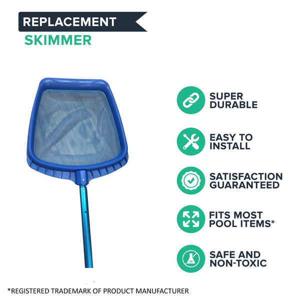 6 to 12-Foot Adjustable Telescopic Pool Pole & Leaf Skimmer Kit