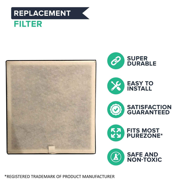 Replacement 3-in-1 Air Purifier Filter, Fits Pure Enrichment's PureZone Air Purifiers