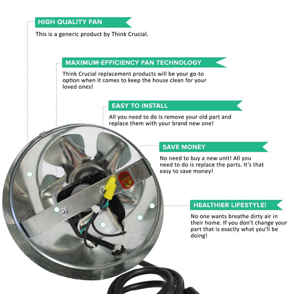6-in Silver Inline Fan for Grow Room, Smoke & Odor Emission Control | Part # DF6