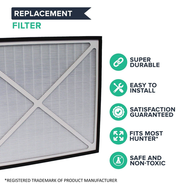 Replacement Air Purifier Filter, Fits Hunter 30940 30210, 30214, 30215, 30216, 30225, 30260 & 30398