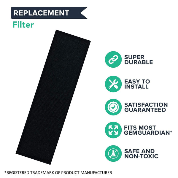 Crucial Air Purifier Replacement - Compatible With GermGuardian Filter Part # FLT4825 - Models AC4300BPTCA AC4900CA AC4825 AC4825DLX AC4850PT CDAP4500BCA, CDAP4500WCA, AP2200CA