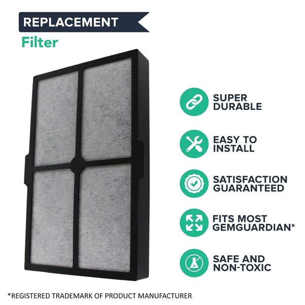 Replacement A Filter, Fits GermGuardian Table Top Air Cleaning System, Compatible with Part FLT4010