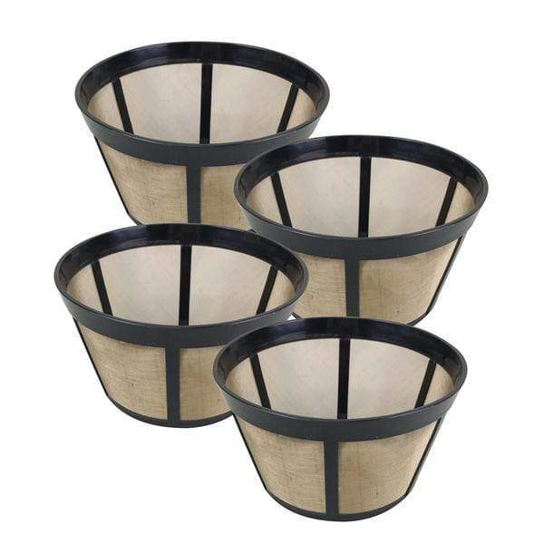 Replacement Gold-Tone Basket Coffee Filter, Fits Bunn Coffee Makers, Washable & Reusable