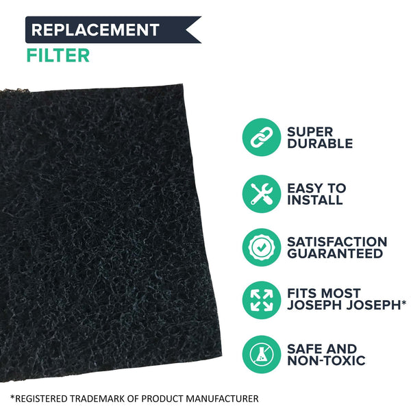 Replacement Charcoal Odor Filters, Fits Joseph Joseph Intelligent Waste