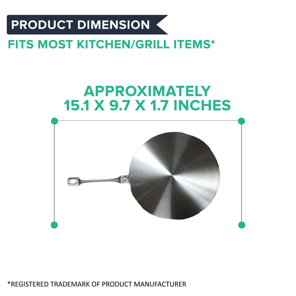 Induction Hob Heat Diffuser Stainless Steel, Medium (23.5cm/9.25'')