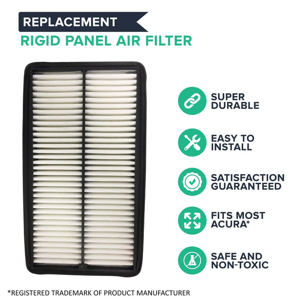 Replacement Rigid Panel Air Filter, Fits Acura & Honda, Compatible with Part CA10013 & A25651