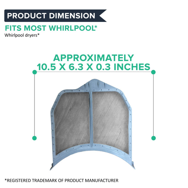 Replacement Dryer Lint Filter, Fits Whirlpool, Compatible with Part W10516085