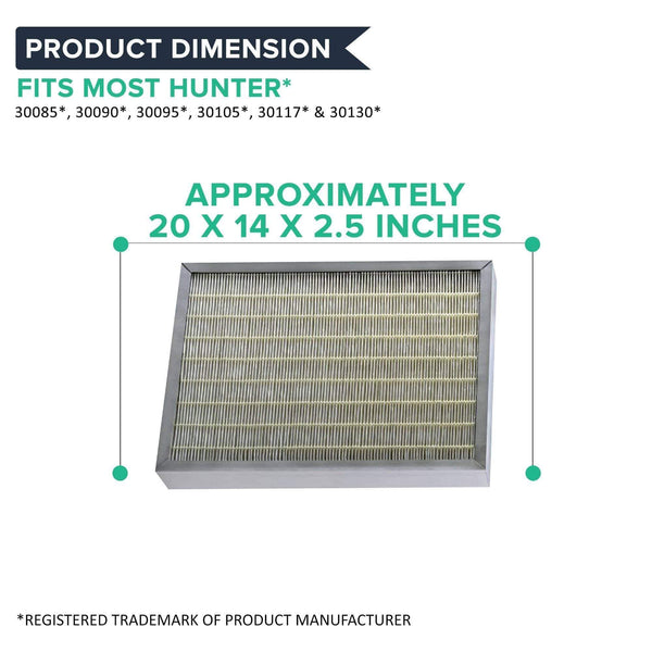 Replacement Air Purifier Filter, Fits Hunter 30936 30085, 30090, 30095, 30105, 30117 & 30130