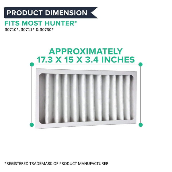 Crucial Air Purifier Replacement - Compatible With Hunter Filter Part # 30963 - Models 30709, 30710, 30711, 30714, 30721, 30752, 30760, 30790, 30791, Cleaner Lifestyle