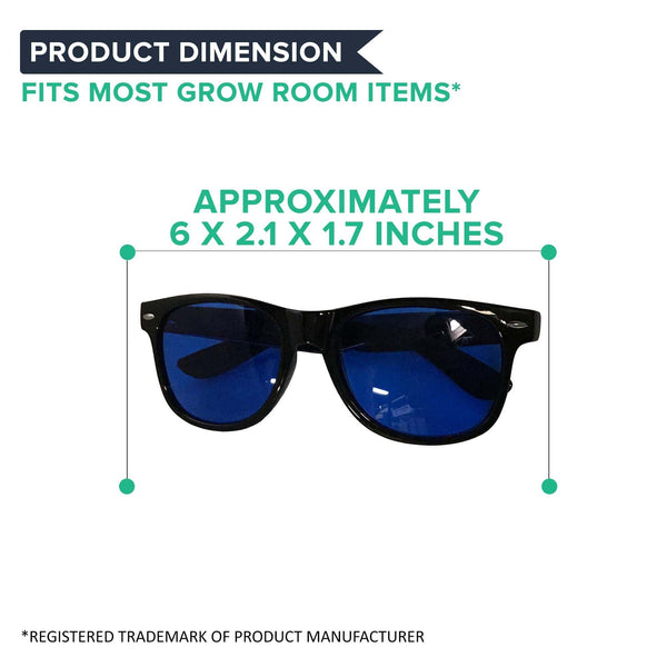 Horticulture Indoor Hydroponics Grow Room & Greenhouse Light Glasses (Goggles), Anti UV, Reflection & Glare Optical Protection