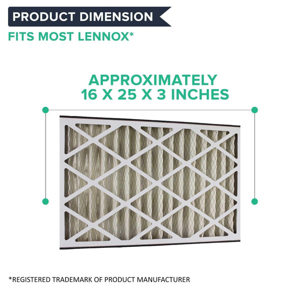 Replacement 16x25x3 MERV-8 HVAC Furnace Filter, Fits Lennox BMAC-12C, Compatible with Part X0581