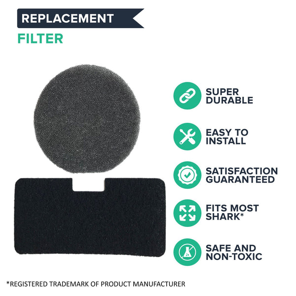 6pk Replacement Filters, Fits Shark EP602, EP602F, EP6312, EP677 & More, Compatible with Part 1049FC
