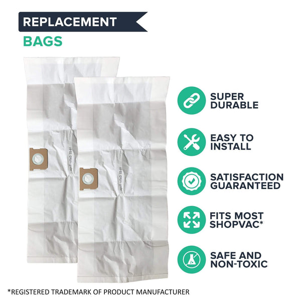 Think Crucial Canada Replacement Vacuum Bag Compatible with Shop-Vac Part # 90663 & 90663-00, Fits Type G 15-22 Gallon Shop-Vac Wet and Dry Vacuum Model