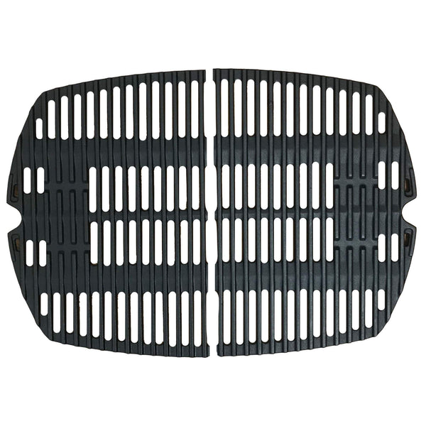 2pk Replacement Long Lasting Cooking Grate, Fits Weber Grills, Compatible with Part 7645 & 65811, 21.5 x 15.3 x .5