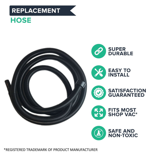 Think Crucial Replacement Vacuum Hose Compatible with Shop-Vac 20 Foot Hose (Stretches to), Fits Vacuum Models with 2-1/4 Inch Openings – (1 Pack)