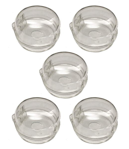5 Universal Stove Burner Knobs, Clear