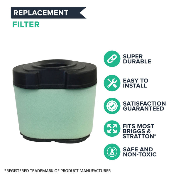 Replacement Air Filter Cartridge, Fits Briggs & Stratton 16.0-27.0 HP V-Twin Engines, Compatible with Part 792105