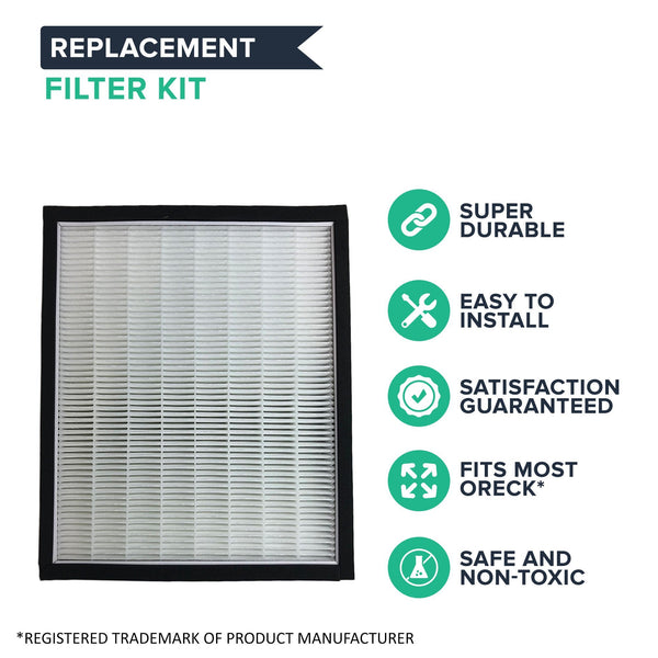 Replacement HEPA Style Filter & Carbon Filter Kit, Fits Oreck OptiMax Air 94 Air Purifiers
