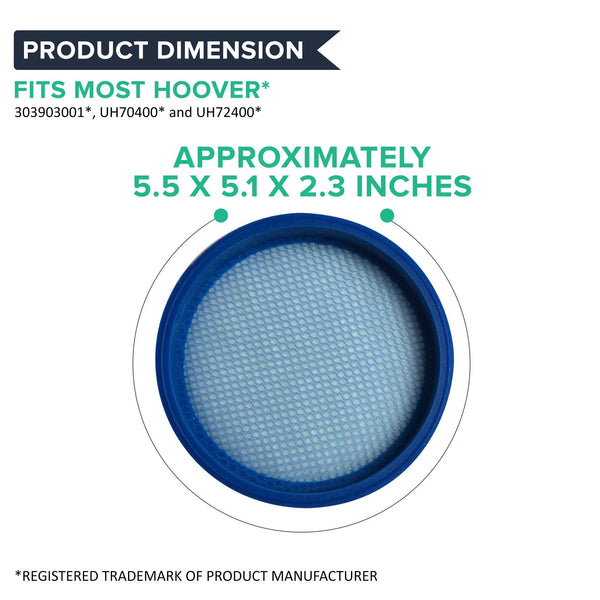 Replacement Pre Filter, Fits Hoover Air Cordless 3.0, Washable & Reusable, Compatible with Part BH50140
