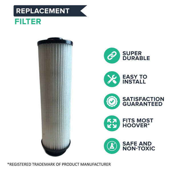 Crucial Vacuum Filter Replacement Parts Compatible With Hoover Part # 471062, 40140201, 43611042, 42611049, F923 - Fits Hoover Windtunnel Bagless HEPA Style Filter - Perfect Filters